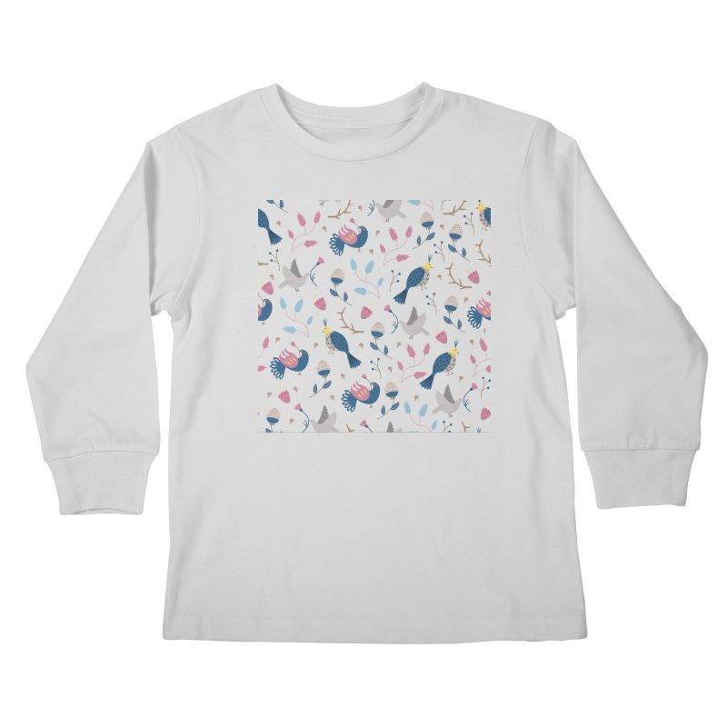 Birds Pattern Kids Longsleeve T-Shirt by ivvch's Artist Shop