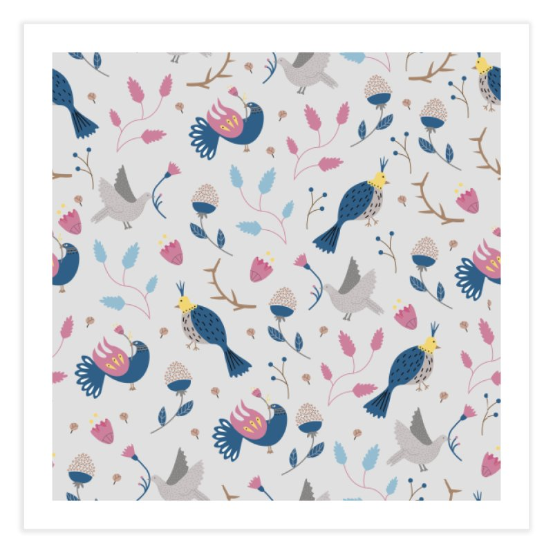 Birds Pattern Home Fine Art Print by ivvch's Artist Shop