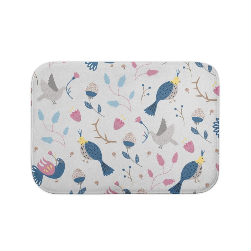 Birds Pattern Home Bath Mat by ivvch's Artist Shop