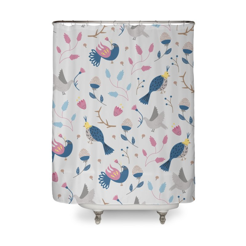 Birds Pattern Home Shower Curtain by ivvch's Artist Shop