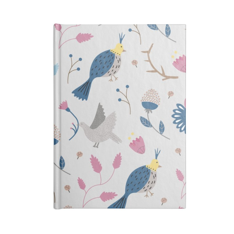 Birds Pattern Accessories Notebook by ivvch's Artist Shop