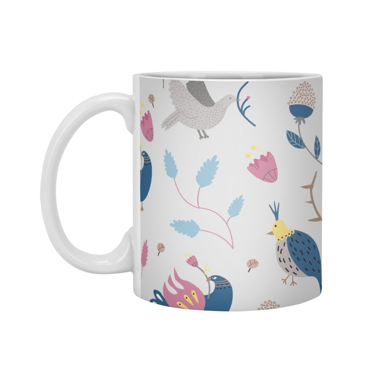Birds Pattern Accessories Standard Mug by ivvch's Artist Shop