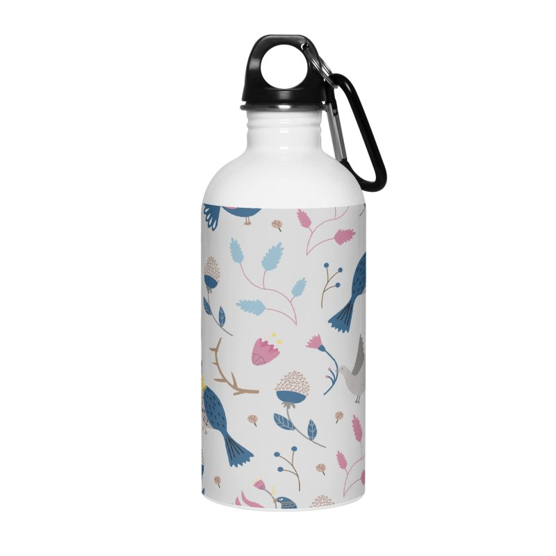Birds Pattern Accessories Water Bottle by ivvch's Artist Shop