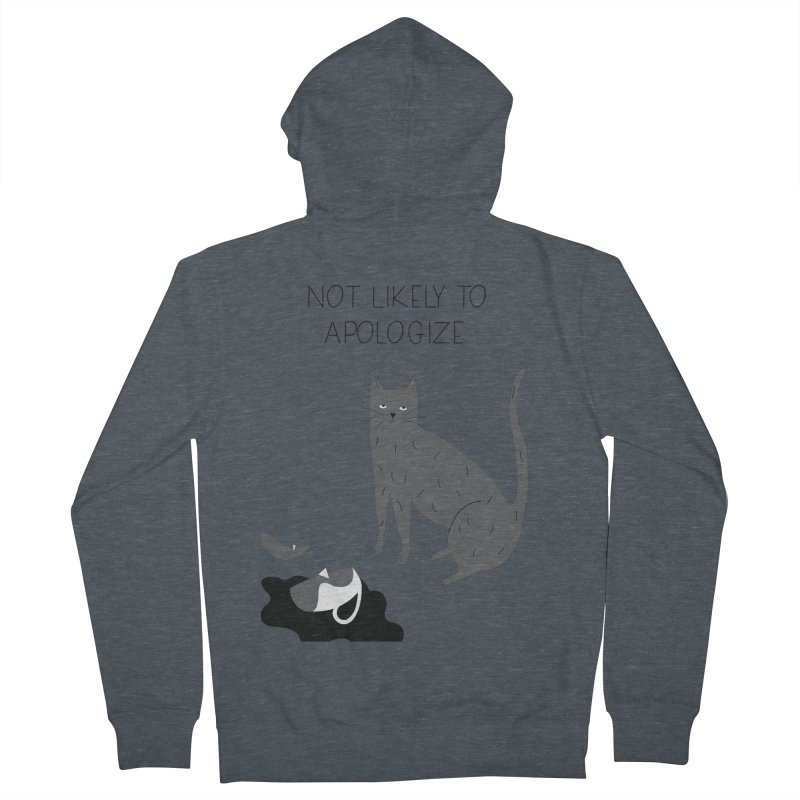Not likely to apologize Women's French Terry Zip-Up Hoody by ivvch's Artist Shop