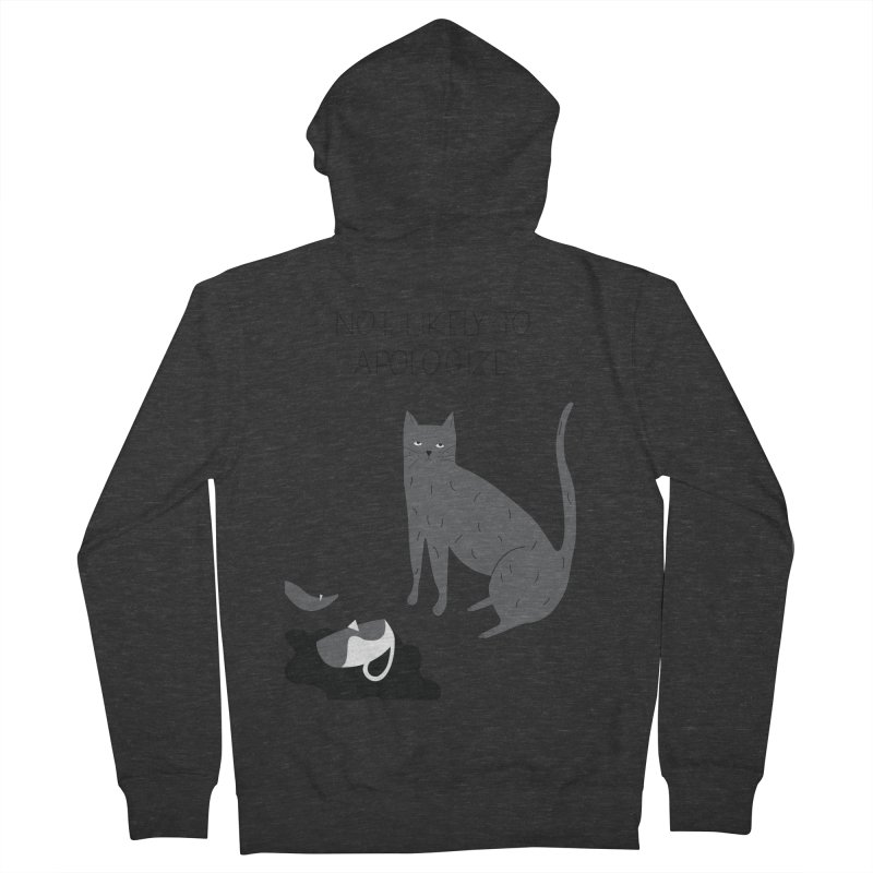 Not likely to apologize Men's French Terry Zip-Up Hoody by ivvch's Artist Shop