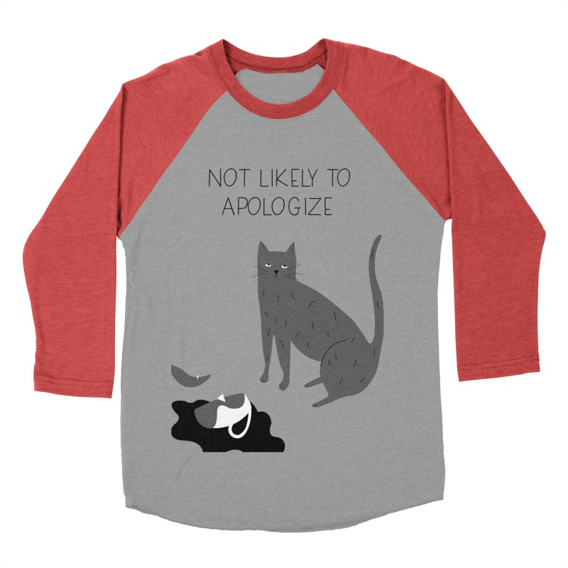 Not likely to apologize Men's Baseball Triblend Longsleeve T-Shirt by ivvch's Artist Shop