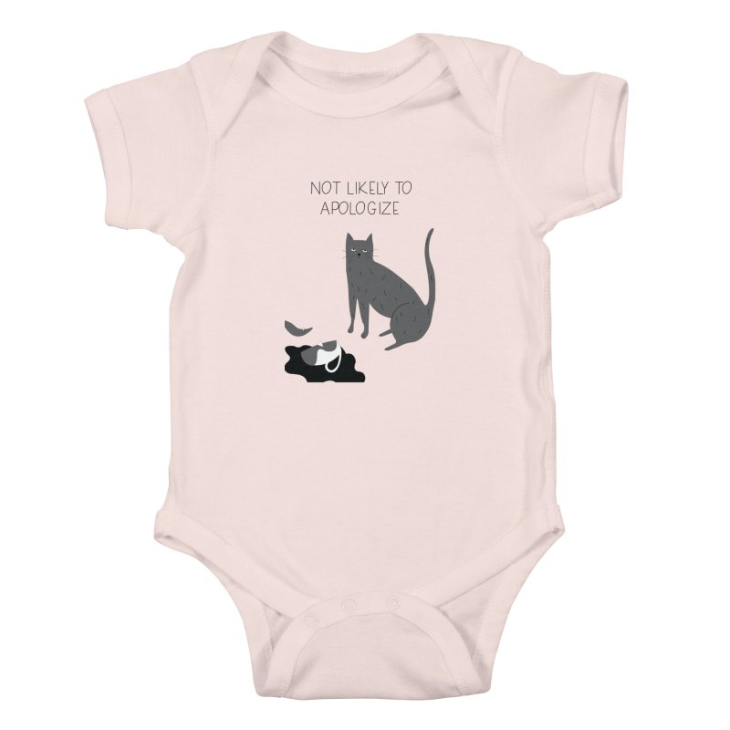 Not likely to apologize Kids Baby Bodysuit by ivvch's Artist Shop