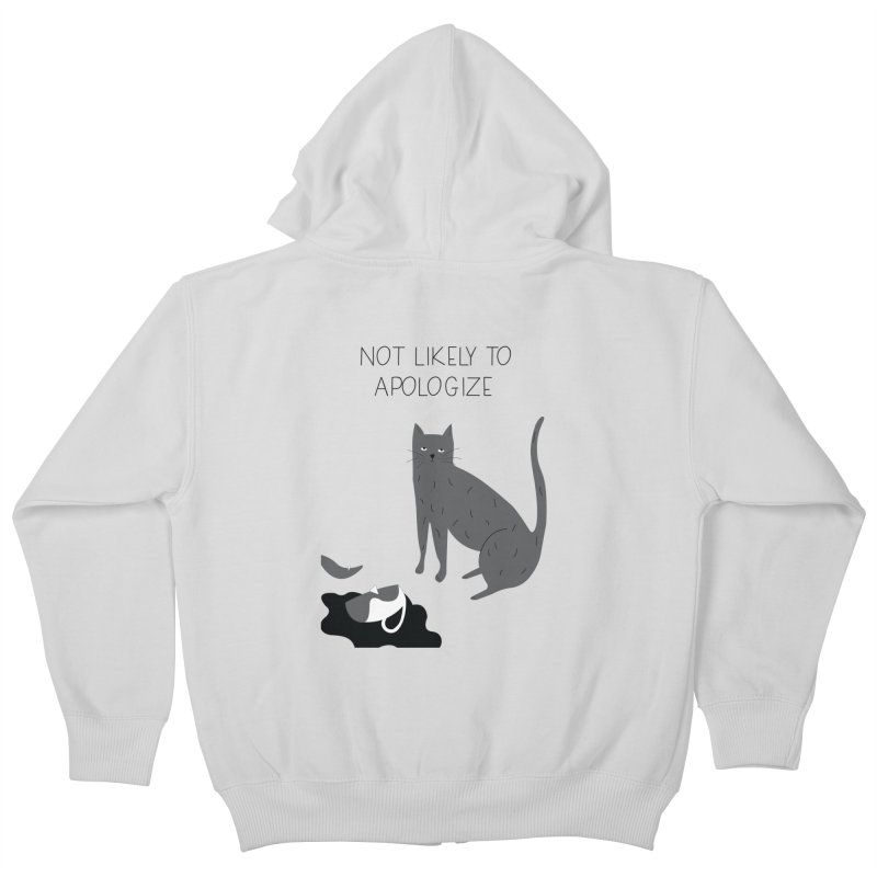 Not likely to apologize Kids Zip-Up Hoody by ivvch's Artist Shop