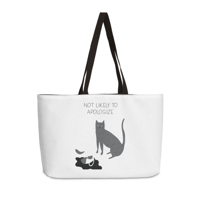 Not likely to apologize Accessories Weekender Bag Bag by ivvch's Artist Shop