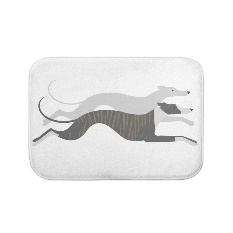 Flying Whippets Home Bath Mat by ivvch's Artist Shop