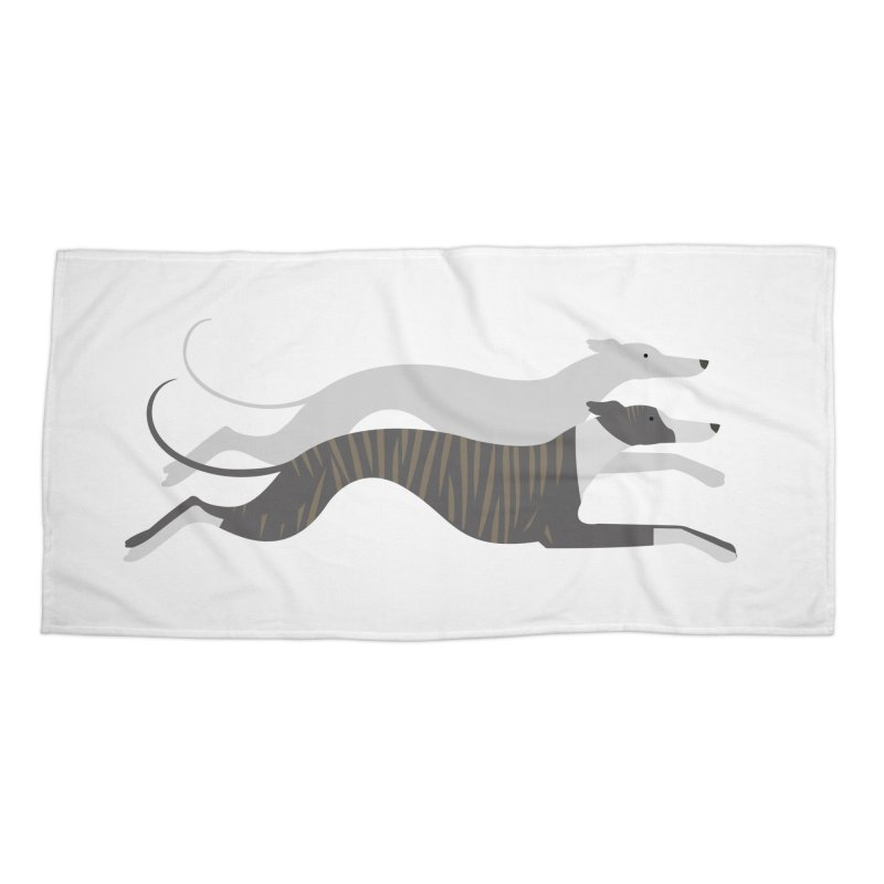 Flying Whippets Accessories Beach Towel by ivvch's Artist Shop