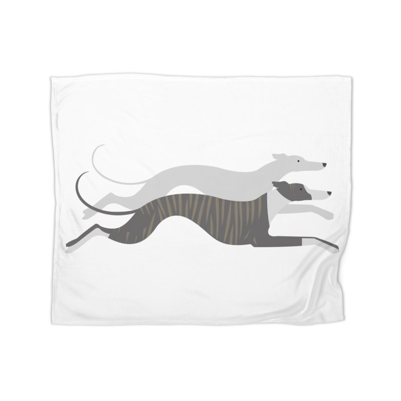 Flying Whippets Home Blanket by ivvch's Artist Shop