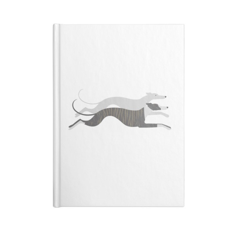 Flying Whippets Accessories Notebook by ivvch's Artist Shop