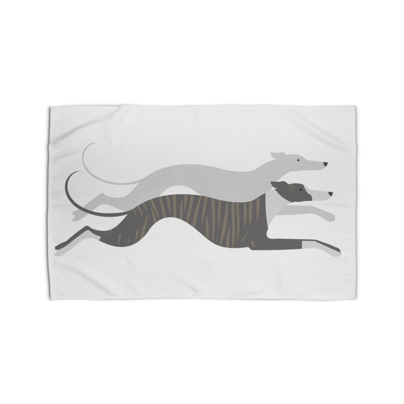 Flying Whippets Home Rug by ivvch's Artist Shop