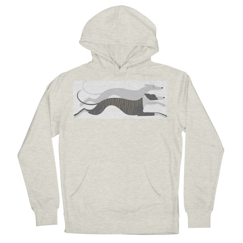 Flying Whippets Men's Pullover Hoody by ivvch's Artist Shop