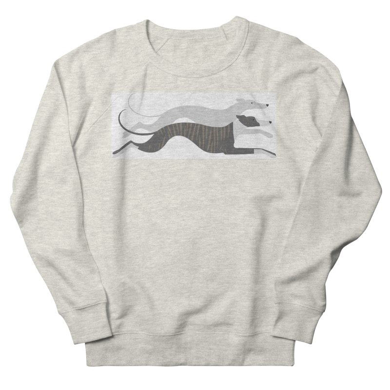 Flying Whippets Women's French Terry Sweatshirt by ivvch's Artist Shop