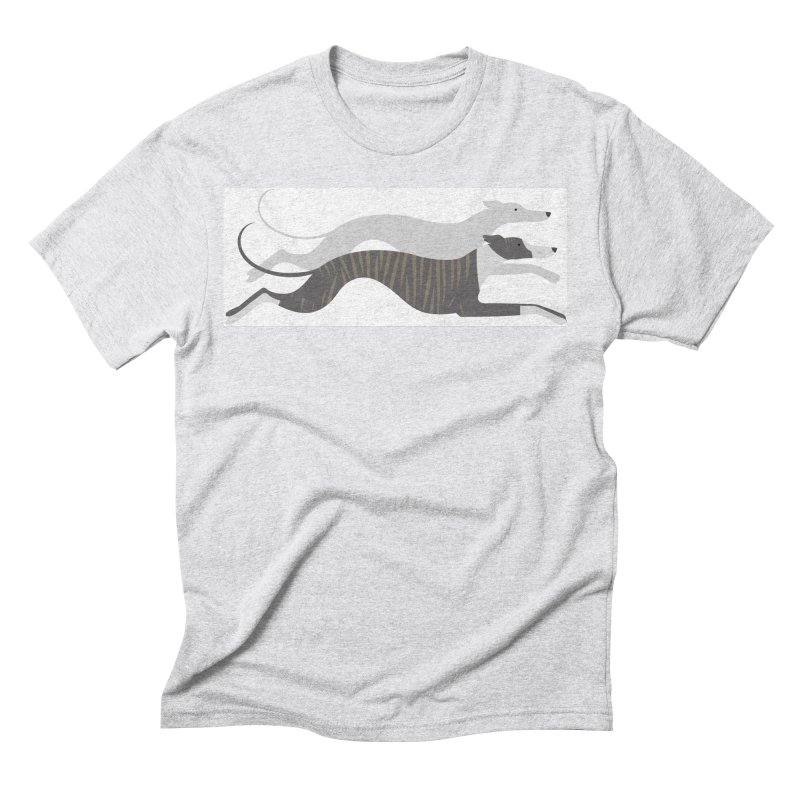 Flying Whippets Men's Triblend T-Shirt by ivvch's Artist Shop