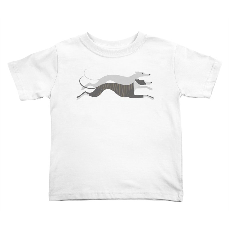 Flying Whippets Kids Toddler T-Shirt by ivvch's Artist Shop