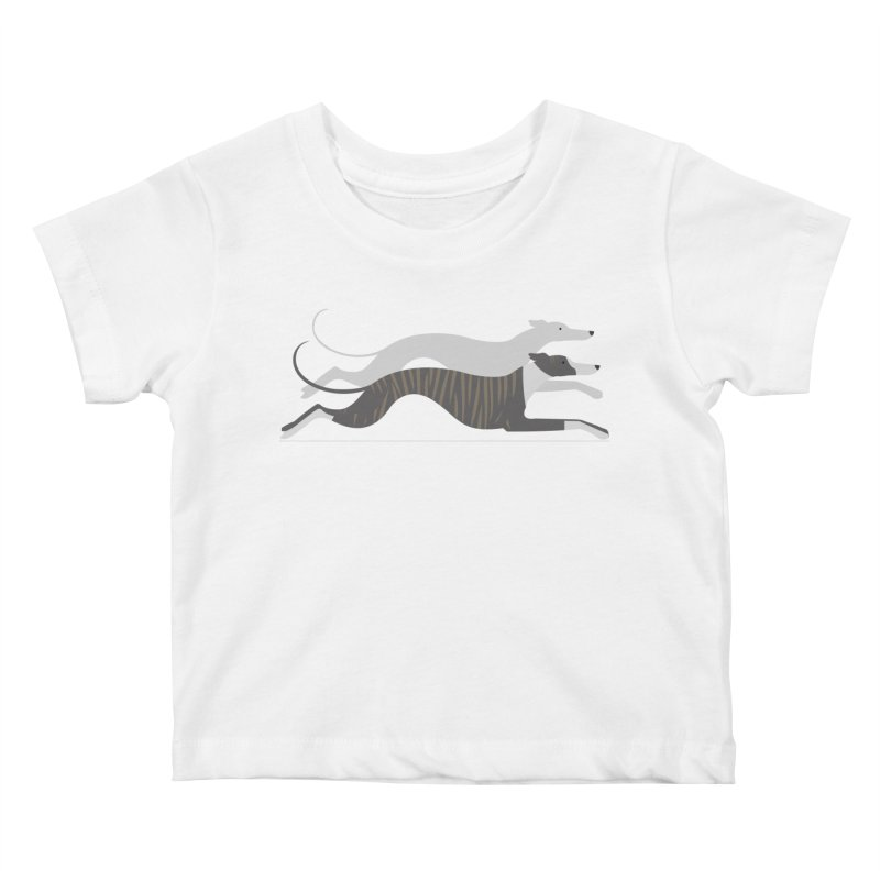 Flying Whippets Kids Baby T-Shirt by ivvch's Artist Shop