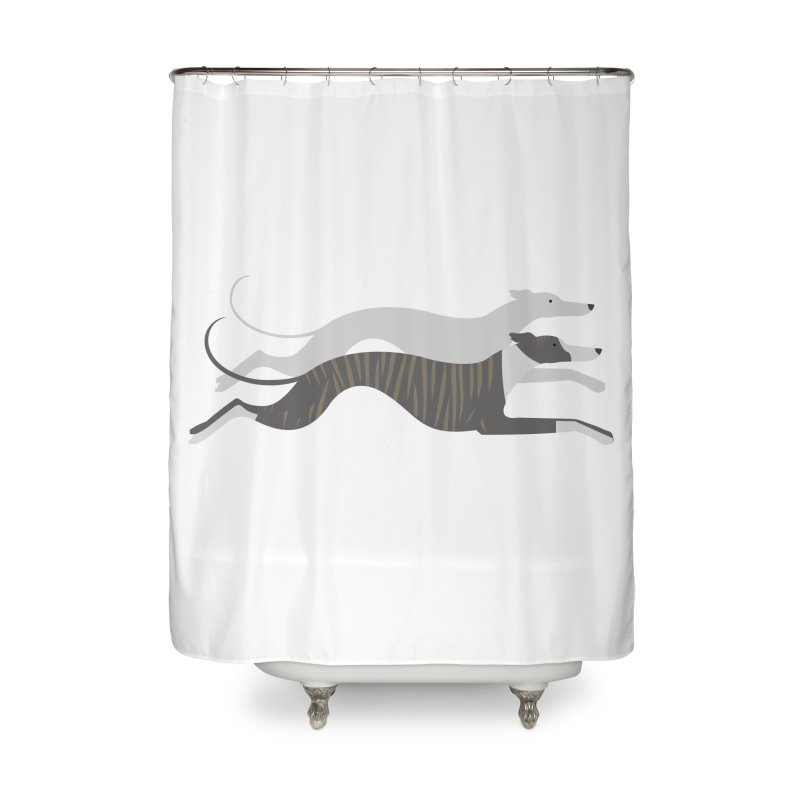 Flying Whippets Home Shower Curtain by ivvch's Artist Shop