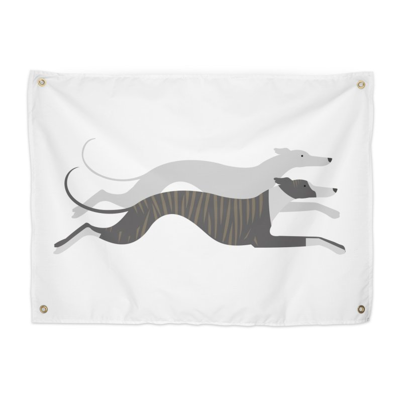 Flying Whippets Home Tapestry by ivvch's Artist Shop