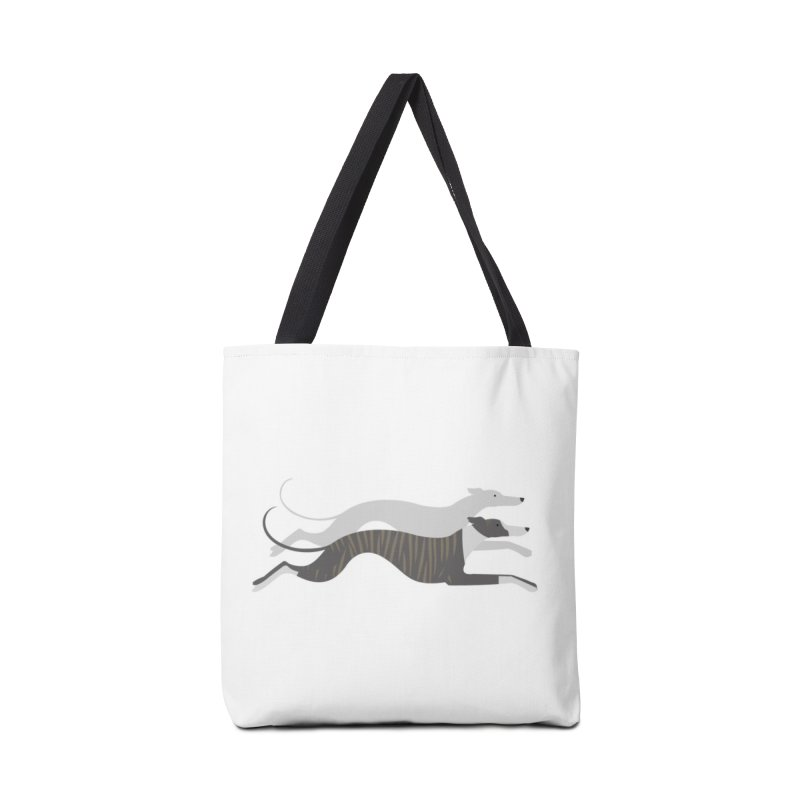 Flying Whippets Accessories Bag by ivvch's Artist Shop