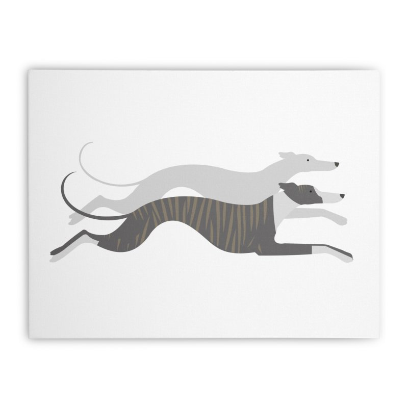 Flying Whippets Home Stretched Canvas by ivvch's Artist Shop
