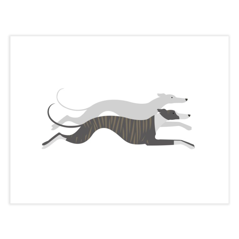 Flying Whippets Home Fine Art Print by ivvch's Artist Shop