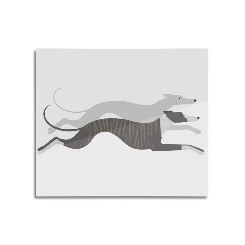 Flying Whippets Home Mounted Aluminum Print by ivvch's Artist Shop