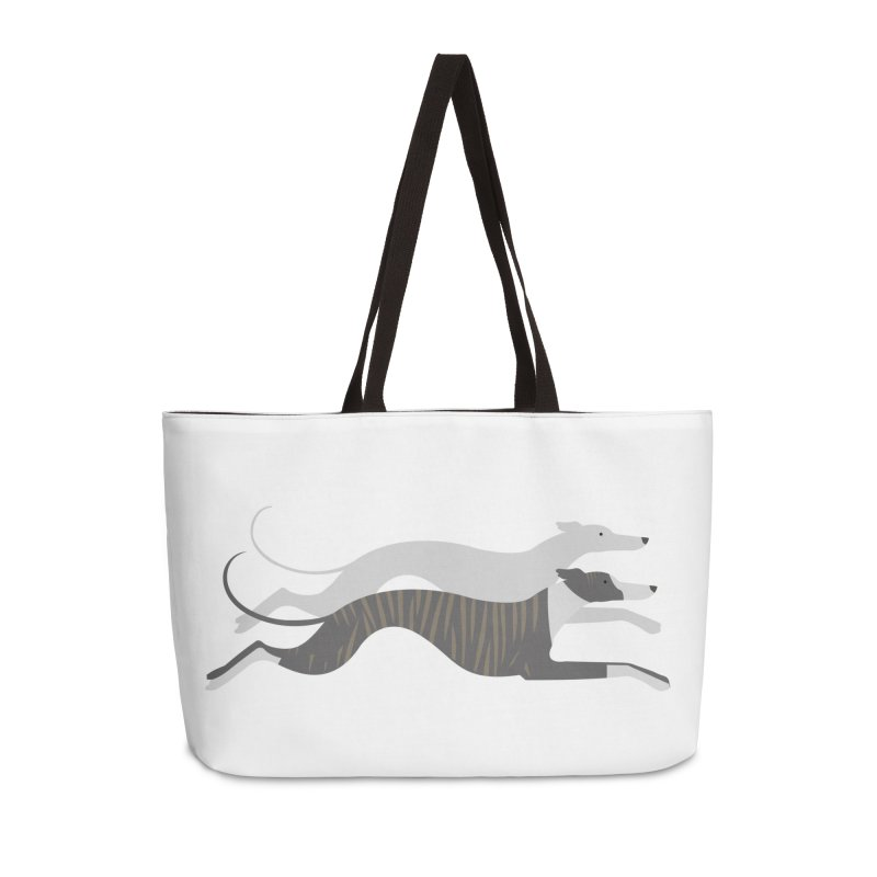 Flying Whippets Accessories Weekender Bag Bag by ivvch's Artist Shop