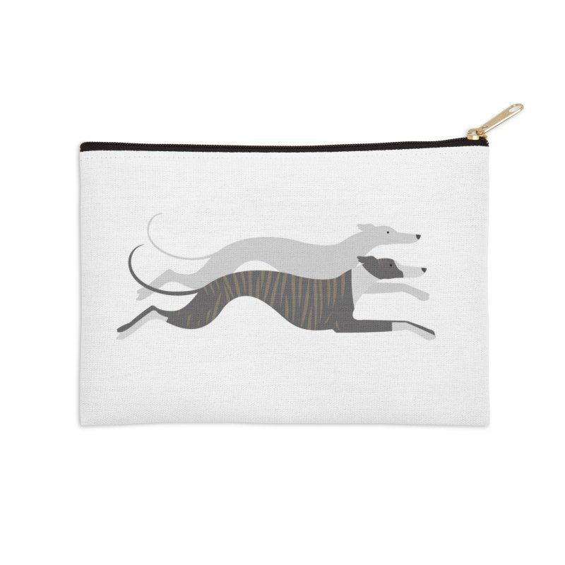 Flying Whippets Accessories Zip Pouch by ivvch's Artist Shop