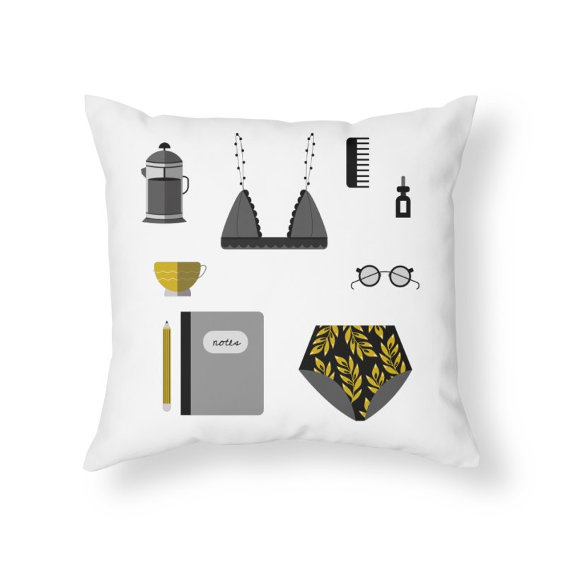 Essentials Home Throw Pillow by ivvch's Artist Shop