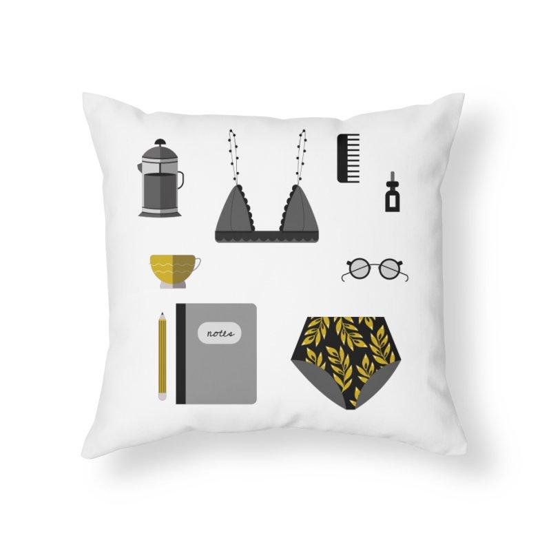 Essentials Home Throw Pillow by ivvch's Artist Shop