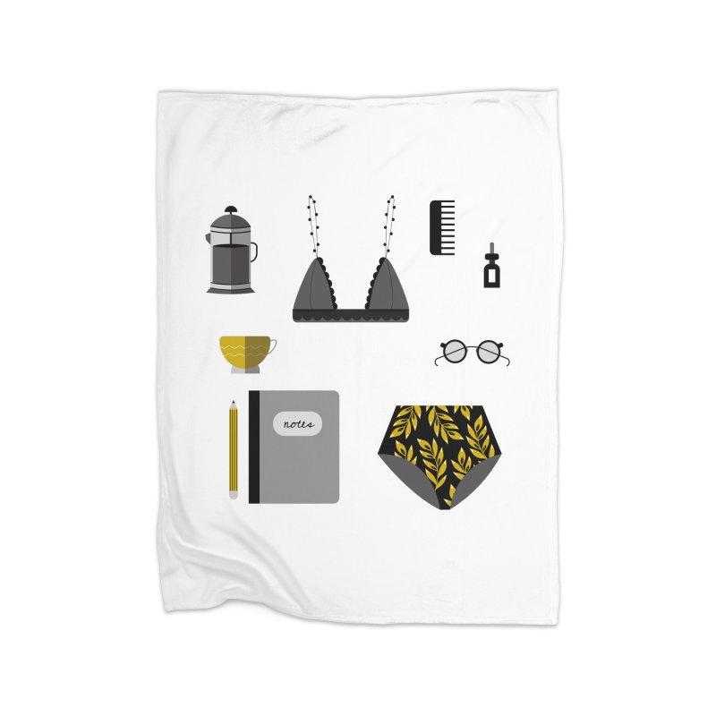Essentials Home Fleece Blanket Blanket by ivvch's Artist Shop