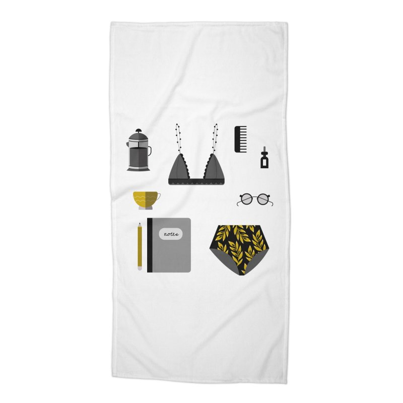 Essentials Accessories Beach Towel by ivvch's Artist Shop