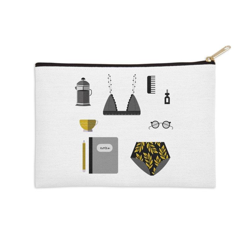 Essentials Accessories Zip Pouch by ivvch's Artist Shop