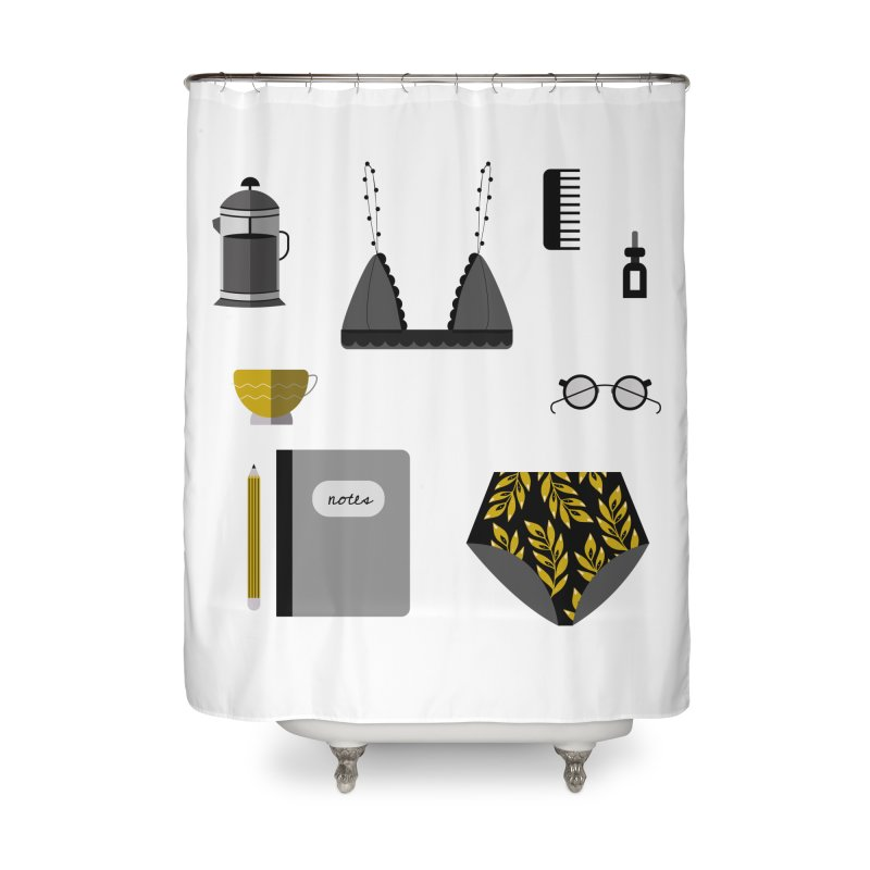 Essentials Home Shower Curtain by ivvch's Artist Shop