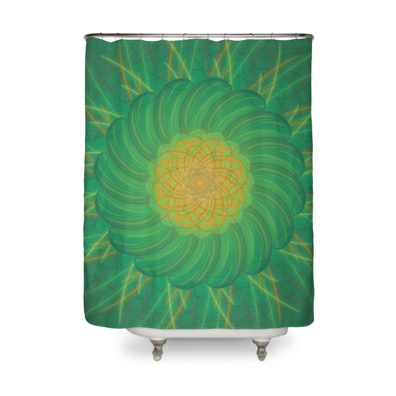 Verdent Fields Home Shower Curtain by Ivy's Meadow