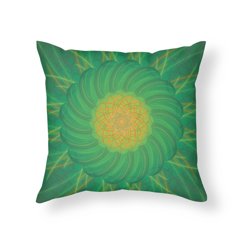 Verdent Fields Home Throw Pillow by Ivy's Meadow