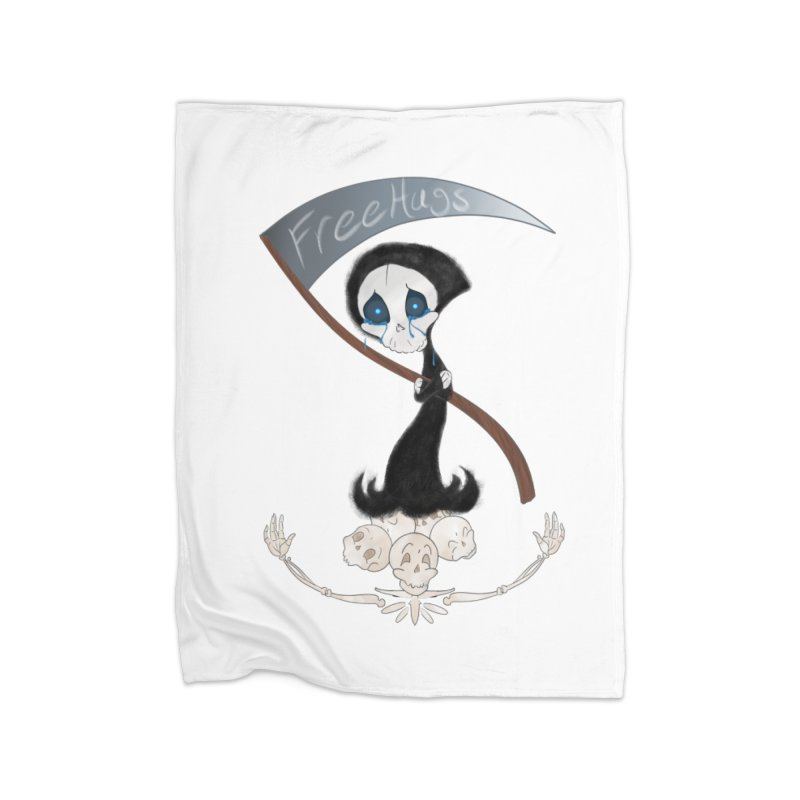 Free Hugs Reaper (No Bubble) Home Blanket by Ivy's Meadow