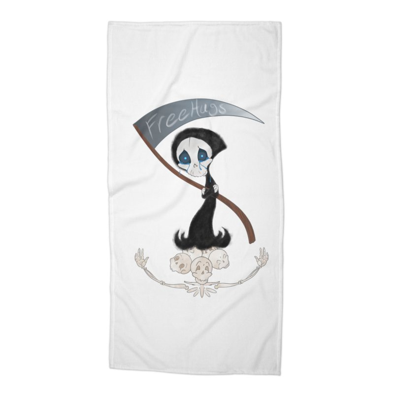 Free Hugs Reaper (No Bubble) Accessories Beach Towel by Ivy's Meadow