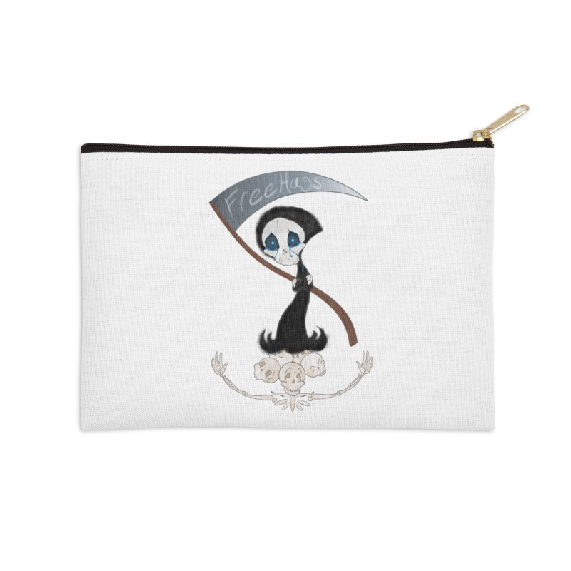 Free Hugs Reaper (No Bubble) Accessories Zip Pouch by Ivy's Meadow