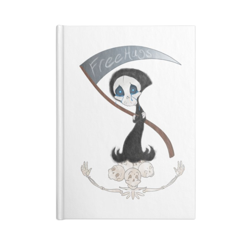 Free Hugs Reaper (No Bubble) Accessories Notebook by Ivy's Meadow