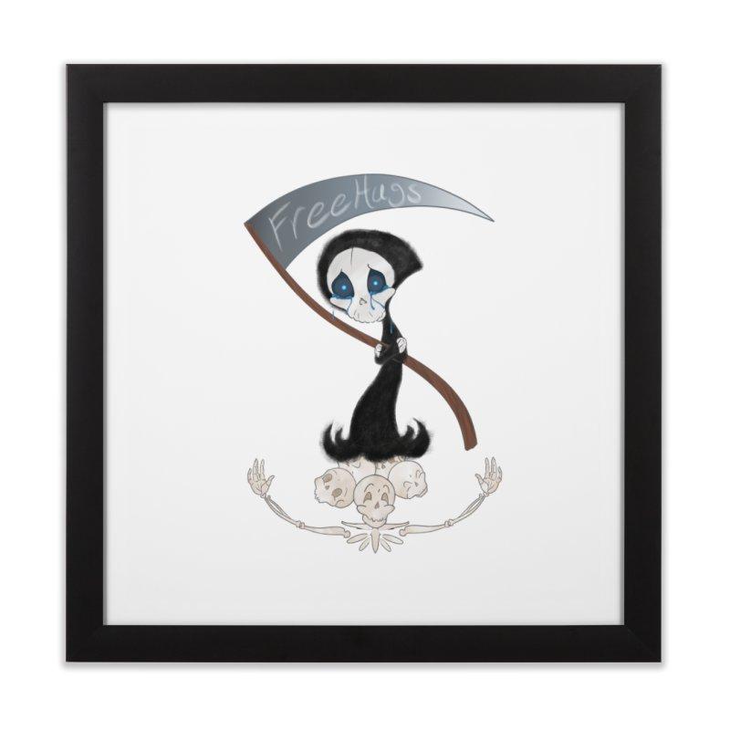 Free Hugs Reaper (No Bubble) Home Framed Fine Art Print by Ivy's Meadow