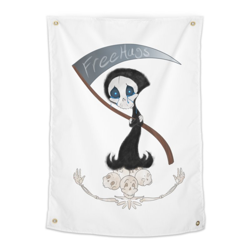 Free Hugs Reaper (No Bubble) Home Tapestry by Ivy's Meadow