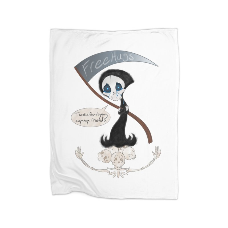 Free Hugs Reaper (With Bubble)  Home Blanket by Ivy's Meadow