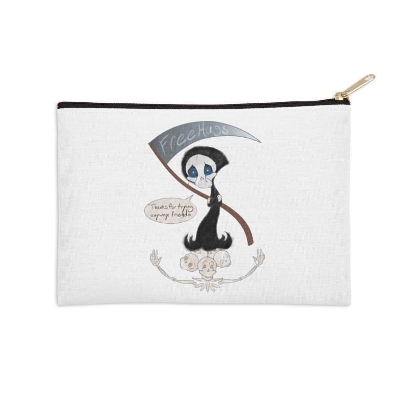 Free Hugs Reaper (With Bubble)  Accessories Zip Pouch by Ivy's Meadow