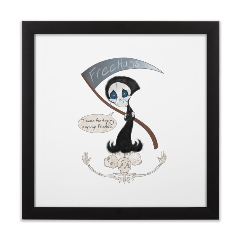 Free Hugs Reaper (With Bubble)  Home Framed Fine Art Print by Ivy's Meadow