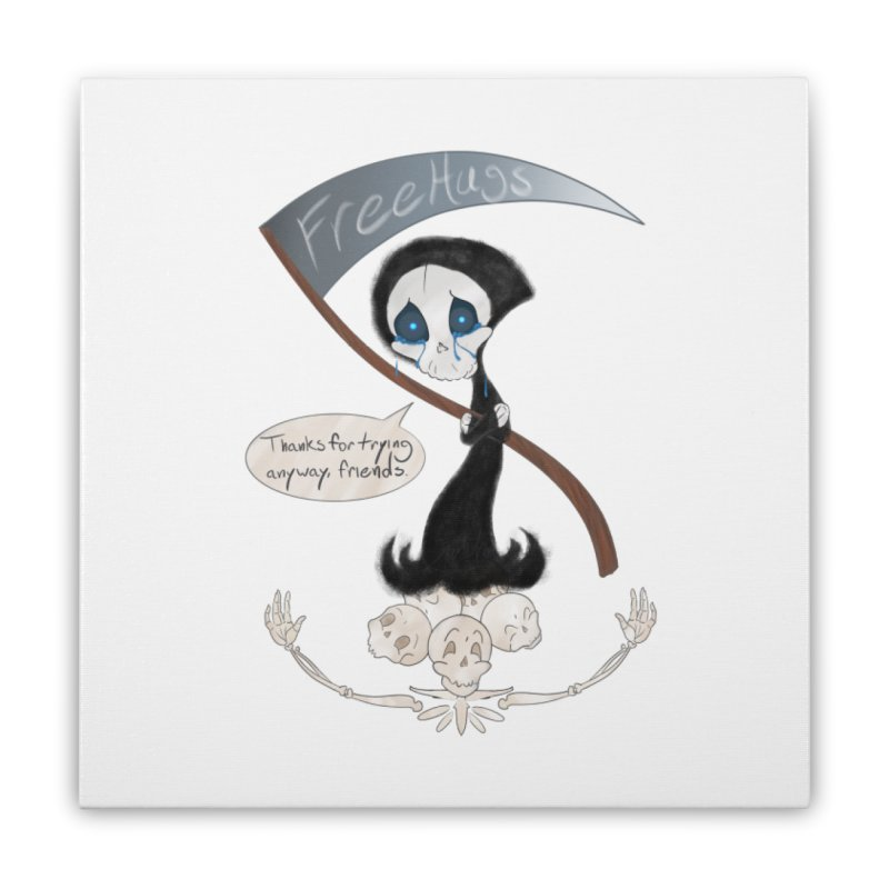 Free Hugs Reaper (With Bubble)  Home Stretched Canvas by Ivy's Meadow