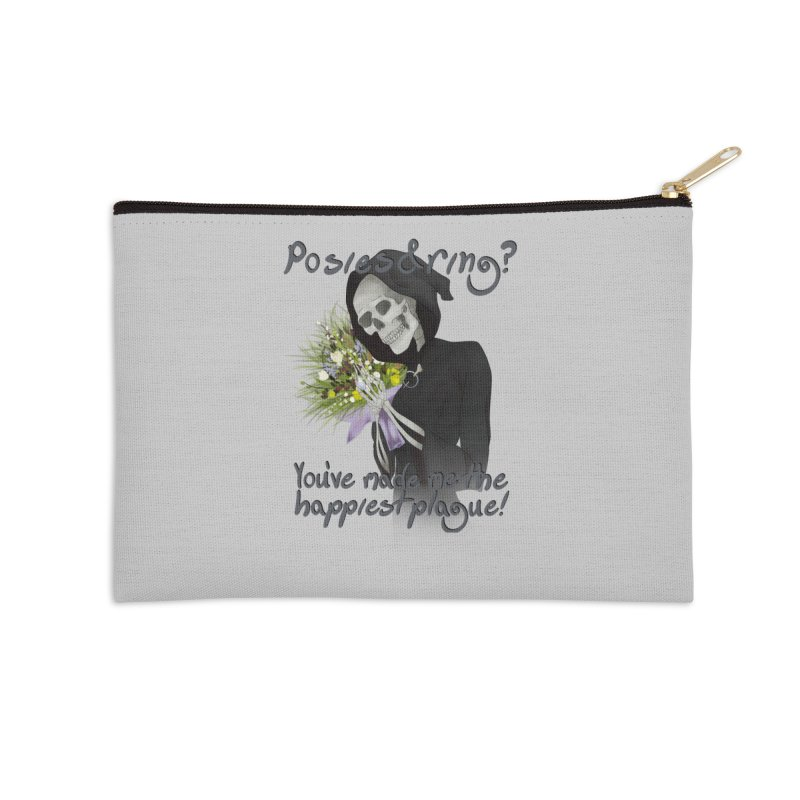 Plague Posies Accessories Zip Pouch by Ivy's Meadow